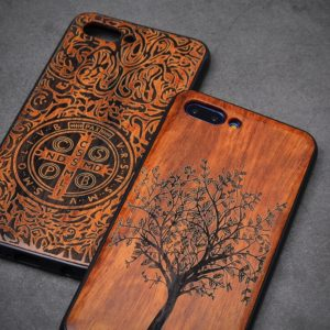 Carved Wood Bamboo Case