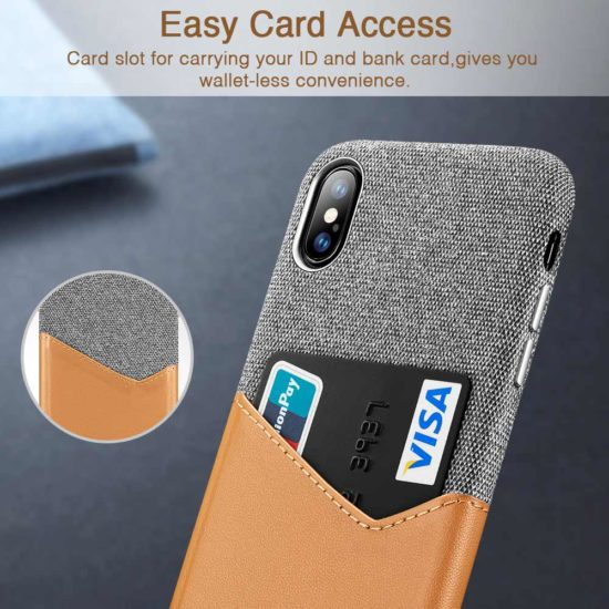 Leather Wallet Pocket iPhone Case