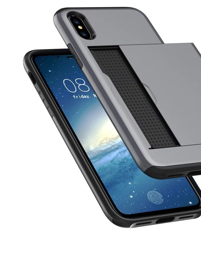 slide wallet phone case cover for iPhone Xs Max