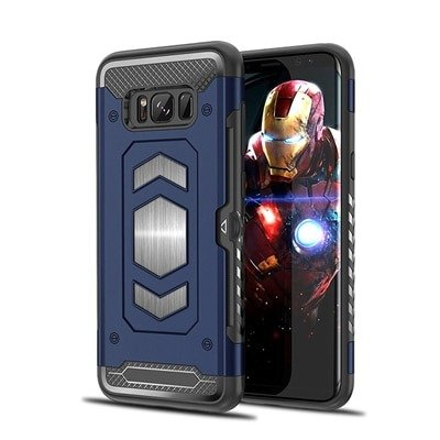 Blue heavy duty magnetic Case For Samsung Galaxy Note 8 9
