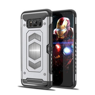 Silver heavy duty magnetic Case For Samsung Galaxy S9 Plus
