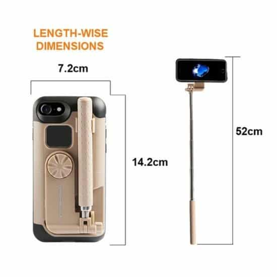 Adjustable selfie stick Iphone case