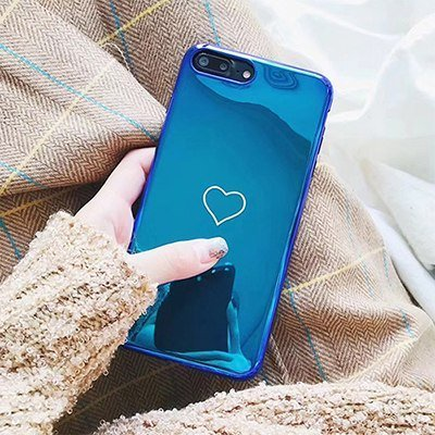 Blu-Ray heart mirror iphone case