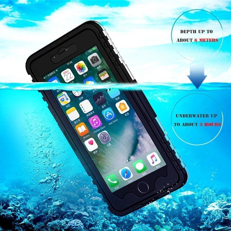 Waterproof Cell Phone Case for iPhone 8 plus