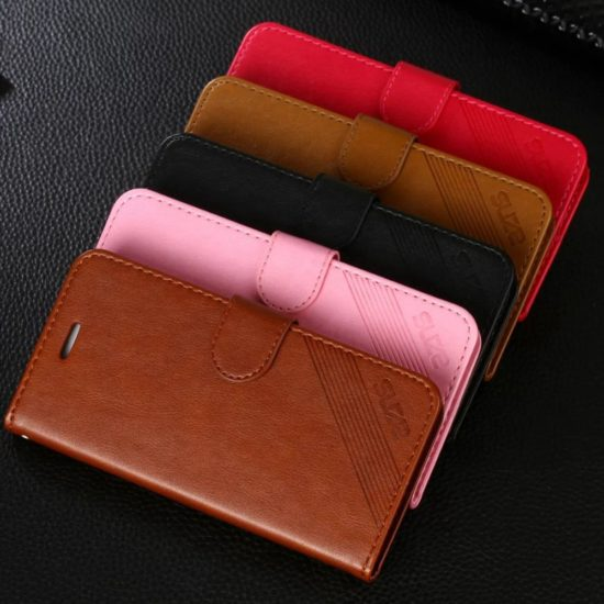 Apple iPhone Leather Wallet Phone Case