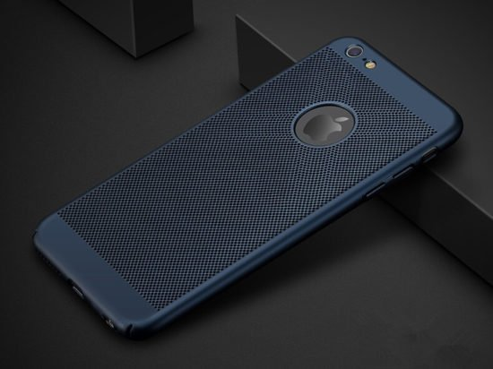 Navy blue Heat Dissipation Phone Case for iPhone x