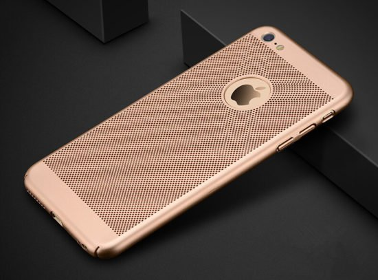 gold Heat Dissipation Phone Case for iPhone 8 plus