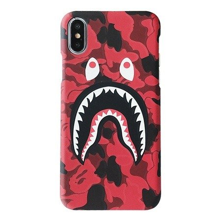 size 40 721ea dfa2c bape shark iphone case for iphone XR XS Max X 8 7 6 6S Plus 5 5s 4 4s