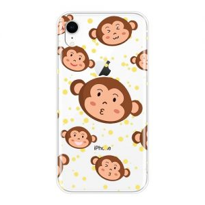 emoji monkey phone case for iPhone XS Max X Xr 6 Plus