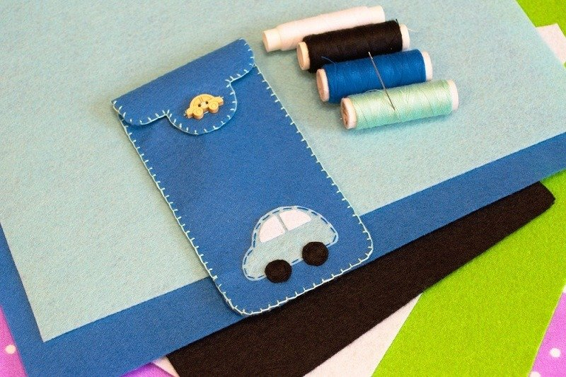 diy homemade phone case with felt