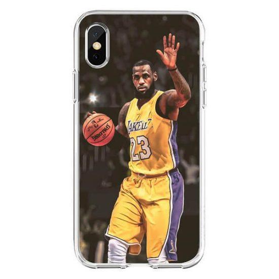 Lebron James iPhone Case playing basketball