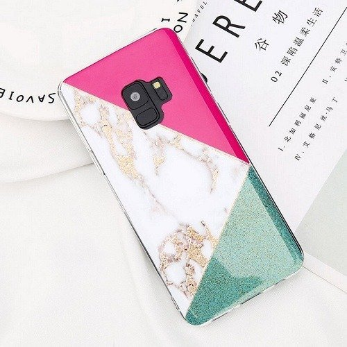 Colorful Splice Marble phone Case