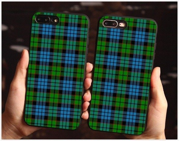 Green plaid case for samsung galaxy Note 8 9