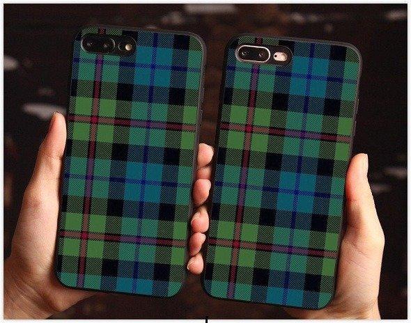 plaid phone case for iPhone X 8 7 6 6s Plus