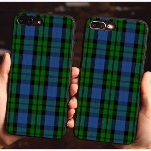 Green plaid phone case