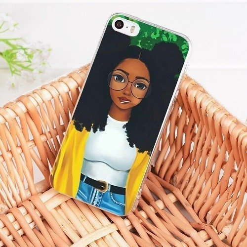 Melanin poppin cell phone case
