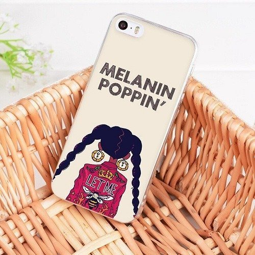 Melanin poppin iphone cases