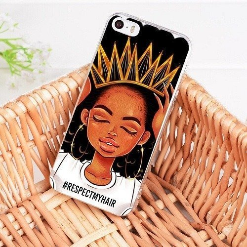 Melanin poppin phone case