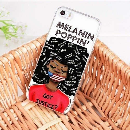 Melanin poppin phone case for iPhone 6 6S Plus