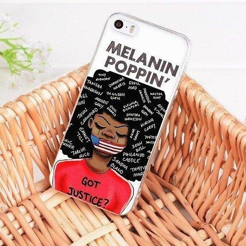 Melanin poppin phone case