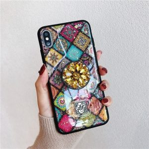 Multicolor Mandala Pop Stand iPhone Case