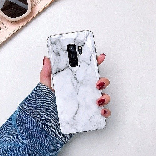 White Marble Galaxy Case