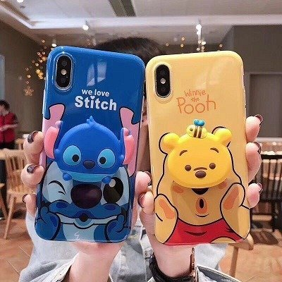 Stitch phone case pop socket Holder