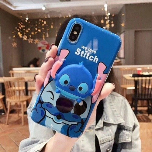 Stitch phone case pop socket