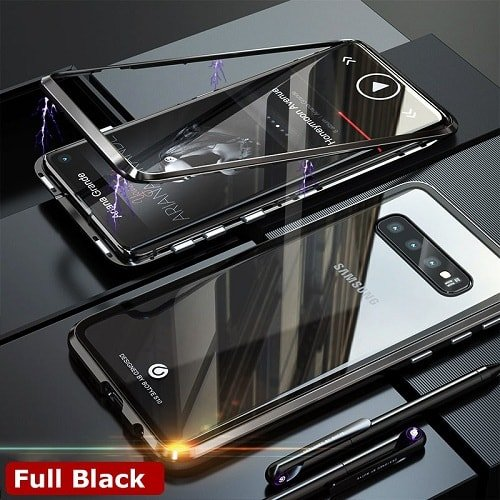 Magnetic Adsorption Tempered Glass Samsung Galaxy Case