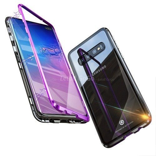 official photos 22d41 bdbbc Magnetic Adsorption Tempered Glass Samsung Case