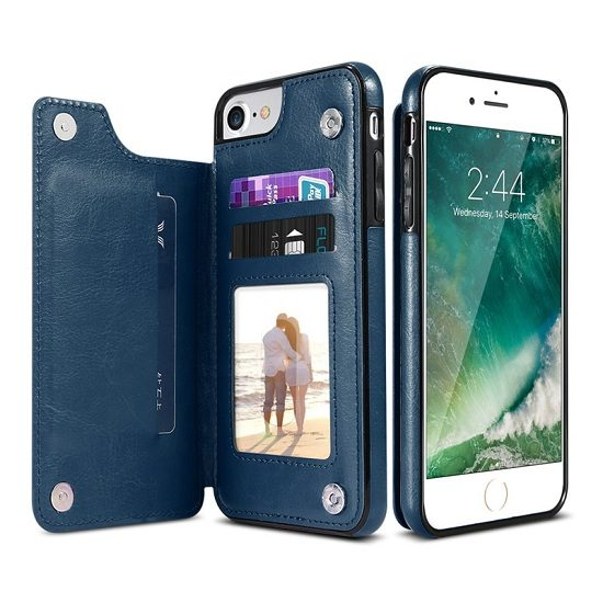 iPhone Xs Max Leather Wallet Case