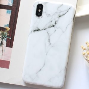 White marble iphone 7 plus phone case