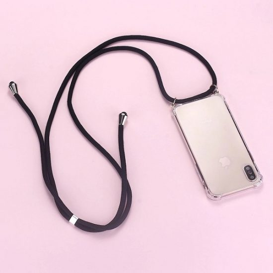 Phone Case with black Strap Necklace