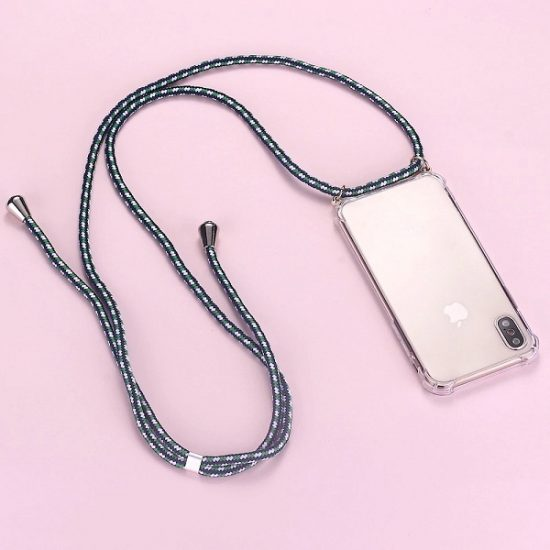 Phone Case with green Strap Necklace Cord