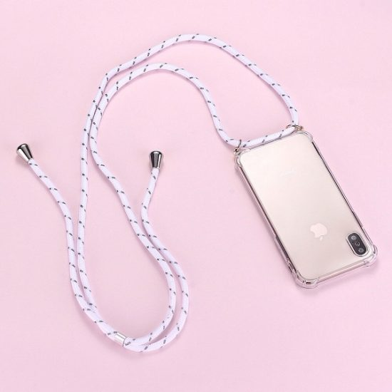 Phone Case with white Strap Necklace Rope chain