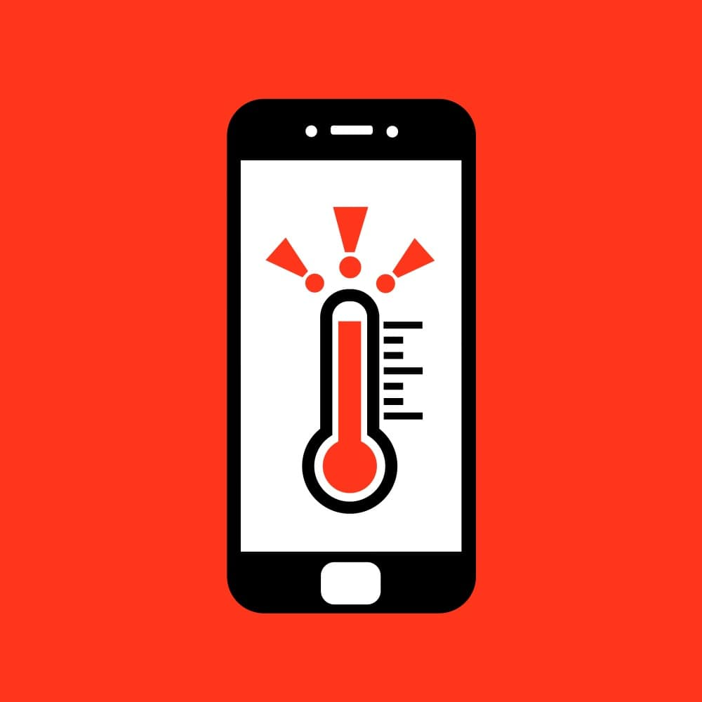 mobile temperature: infographic
