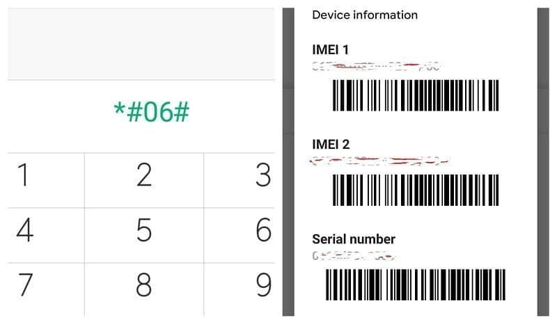 *#06# IMEI Number