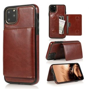 Magnetic iPhone 11 Leather Phone Case