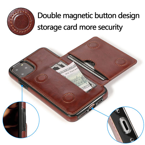 iPhone 11 Leather holder Case