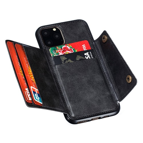 iPhone 11 Leather Wallet Holder Case