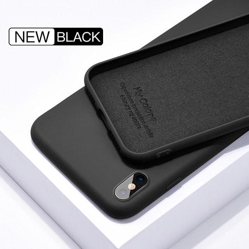 black liquid silicone iphone case