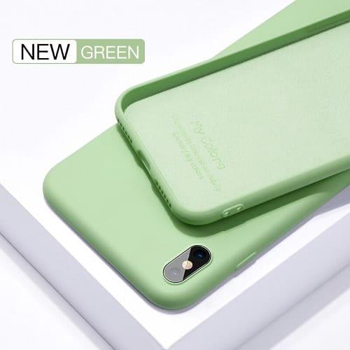 green liquid silicone iphone case