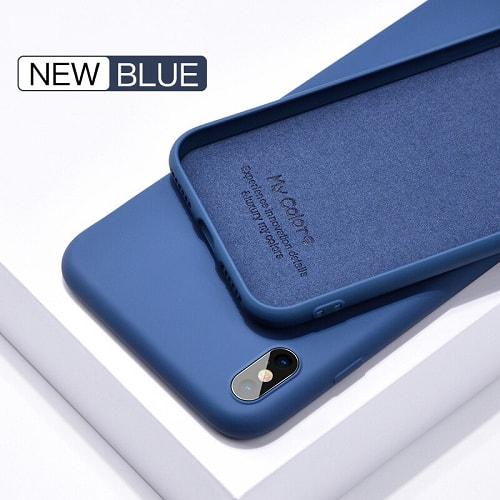 red liquid silicone iphone case