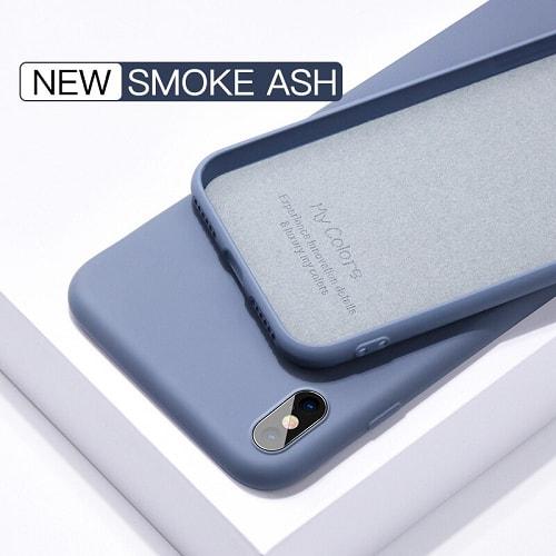 Gray liquid silicone iphone case