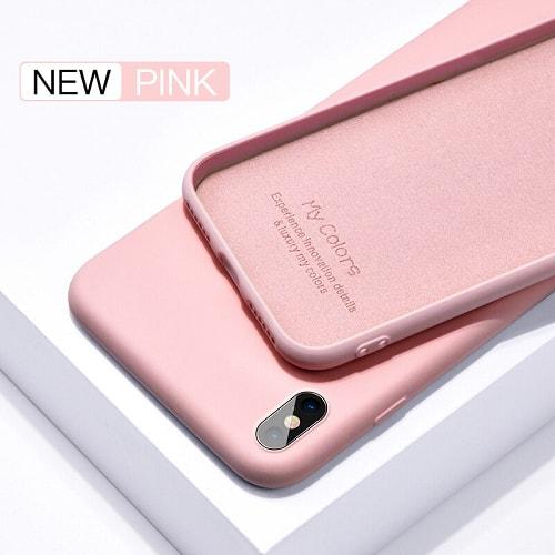 Pink liquid silicone iphone case
