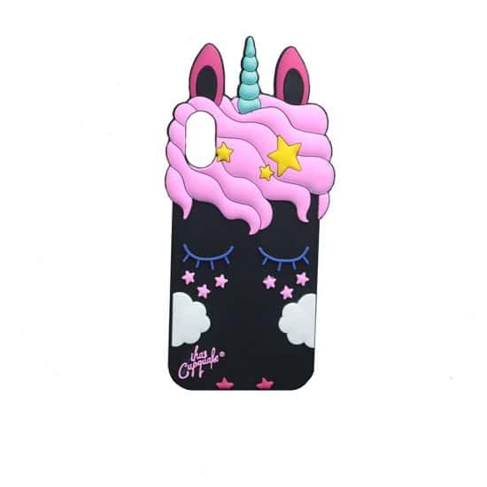 Black eye rabbit unicorn phone case
