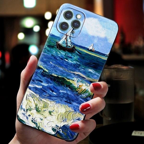 acrylic paint phone case