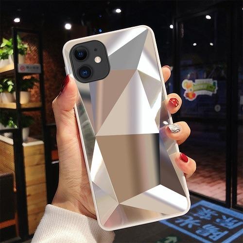 Silver diamond mirror 3D phone Case