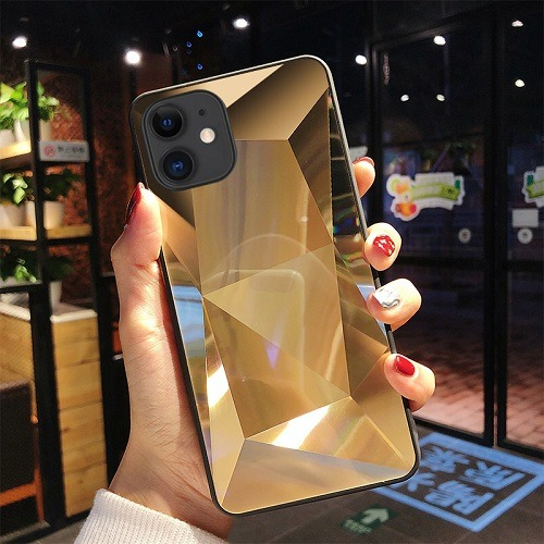Gold diamond mirror 3D phone Case