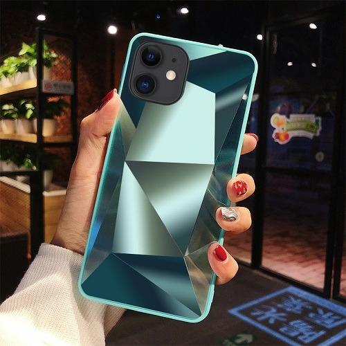 Green diamond mirror 3D phone Case